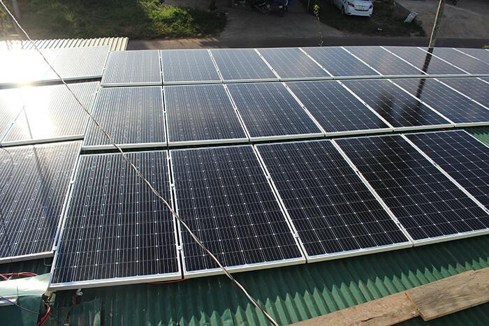 hệ thống điện mặt mặt trời 40KW hòa lưới 3 pha Ở Lâm Đồng 12