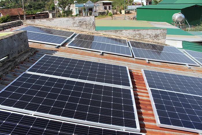 hệ thống điện mặt mặt trời 40KW hòa lưới 3 pha Ở Lâm Đồng 13
