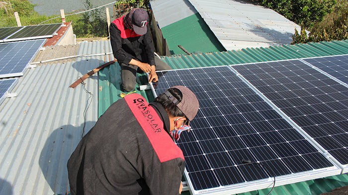 hệ thống điện mặt mặt trời 40KW hòa lưới 3 pha Ở Lâm Đồng 14