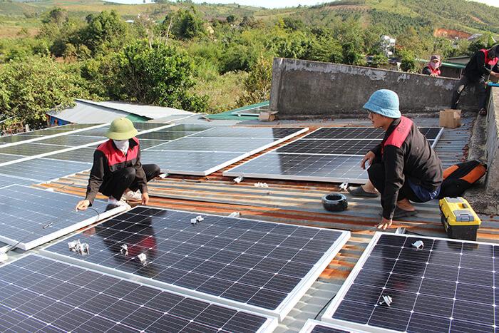 hệ thống điện mặt mặt trời 40KW hòa lưới 3 pha Ở Lâm Đồng 15