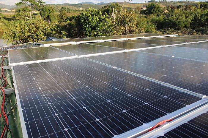hệ thống điện mặt mặt trời 40KW hòa lưới 3 pha Ở Lâm Đồng 16