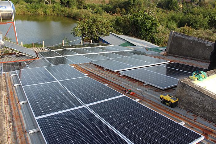 hệ thống điện mặt mặt trời 40KW hòa lưới 3 pha Ở Lâm Đồng 19