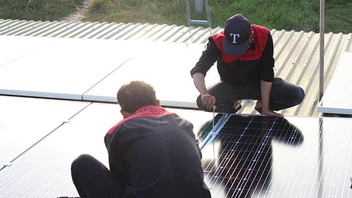 hệ thống điện mặt mặt trời 40KW hòa lưới 3 pha Ở Lâm Đồng 22