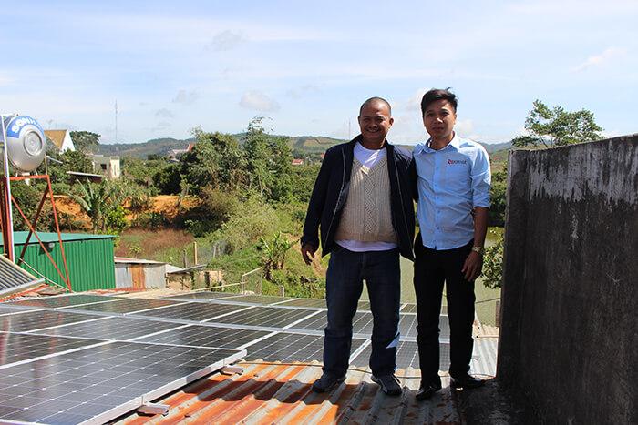 hệ thống điện mặt mặt trời 40KW hòa lưới 3 pha Ở Lâm Đồng 23