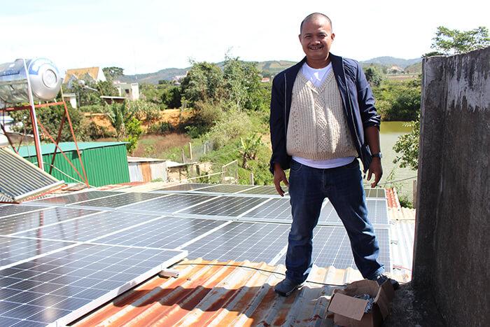 hệ thống điện mặt mặt trời 40KW hòa lưới 3 pha Ở Lâm Đồng 24