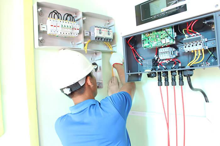 hệ thống điện mặt mặt trời 40KW hòa lưới 3 pha Ở Lâm Đồng 27