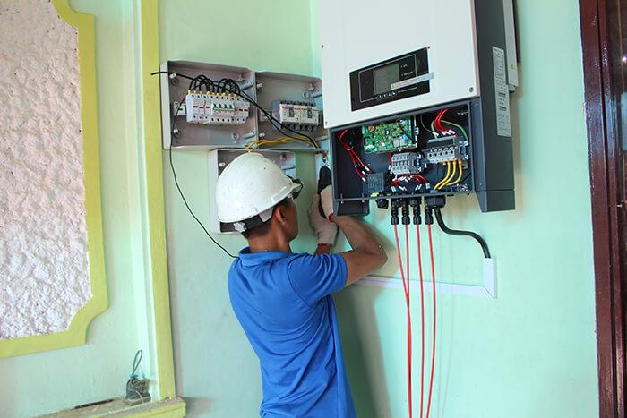 hệ thống điện mặt mặt trời 40KW hòa lưới 3 pha Ở Lâm Đồng 28