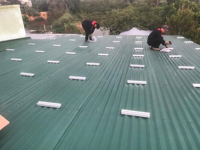 hệ thống điện mặt mặt trời 40KW hòa lưới 3 pha Ở Lâm Đồng 5