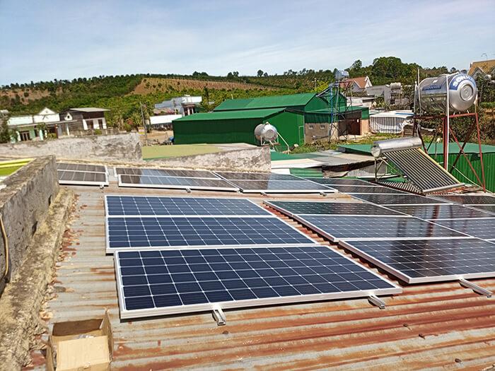 hệ thống điện mặt mặt trời 40KW hòa lưới 3 pha Ở Lâm Đồng 6