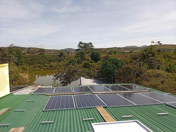 hệ thống điện mặt mặt trời 40KW hòa lưới 3 pha Ở Lâm Đồng 7