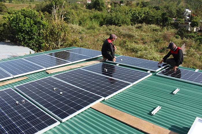 hệ thống điện mặt mặt trời 40KW hòa lưới 3 pha Ở Lâm Đồng 9