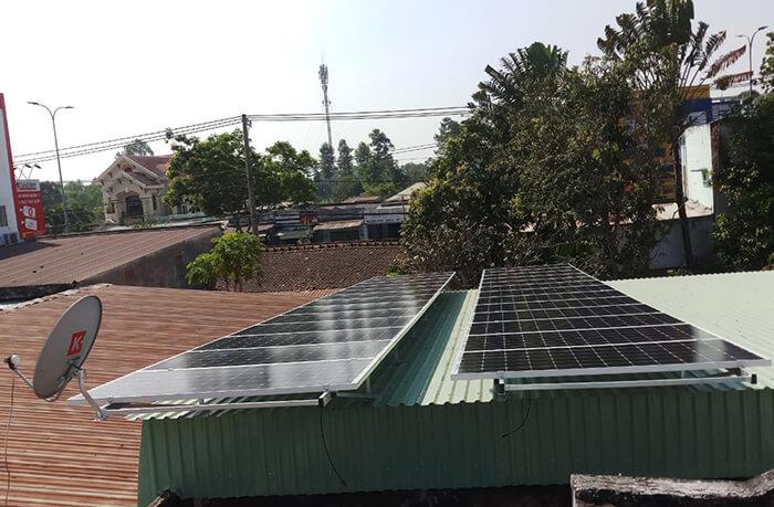 hệ thống điện mặt trời hòa lưới 3 pha 10KW ở Củ Chi 1