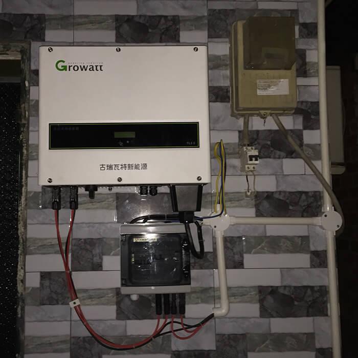hệ thống điện mặt trời hòa lưới 3 pha 10KW ở Củ Chi 10