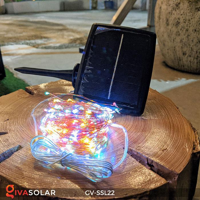 Dây đèn Led trang trí dùng năng lượng mặt trời GV-SSL22 2
