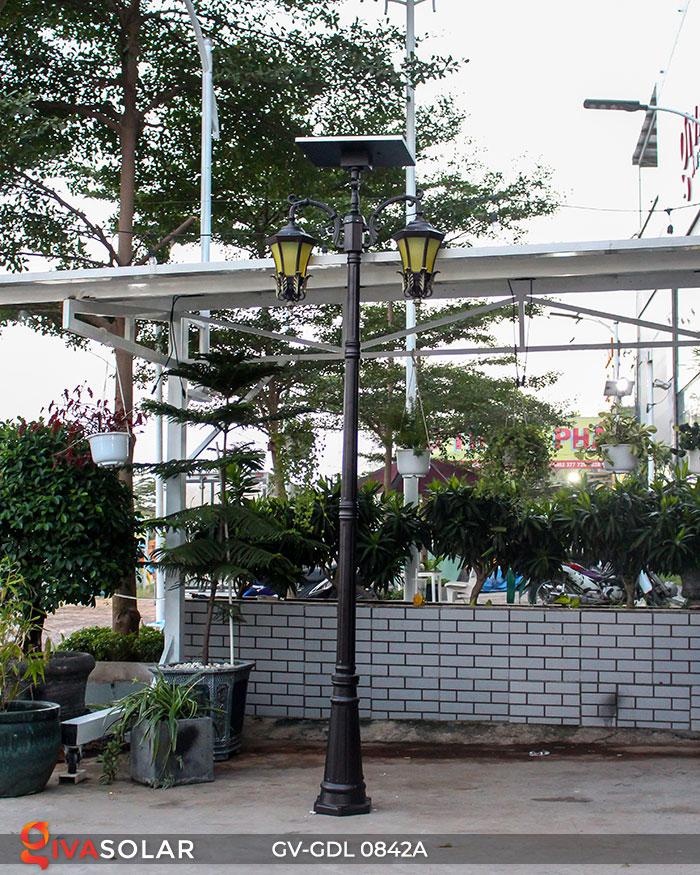 Đèn cột sân vườn dùng điện mặt trời GV-GDL0842A 1