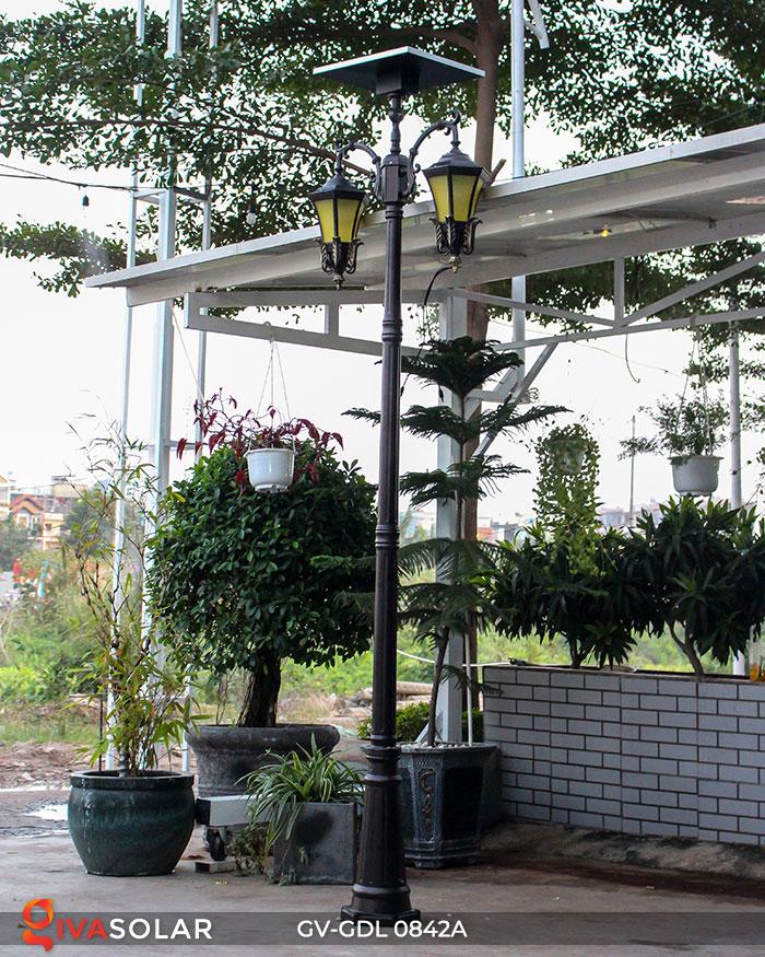 Đèn cột sân vườn dùng điện mặt trời GV-GDL0842A 2