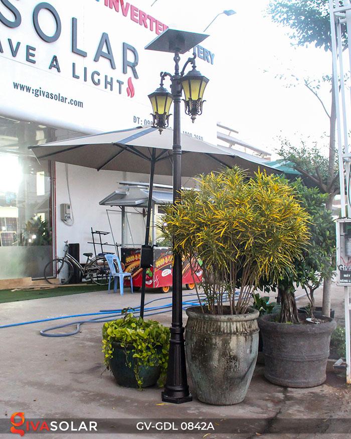 Đèn cột sân vườn dùng điện mặt trời GV-GDL0842A 3