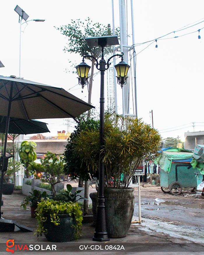 Đèn cột sân vườn dùng điện mặt trời GV-GDL0842A 4