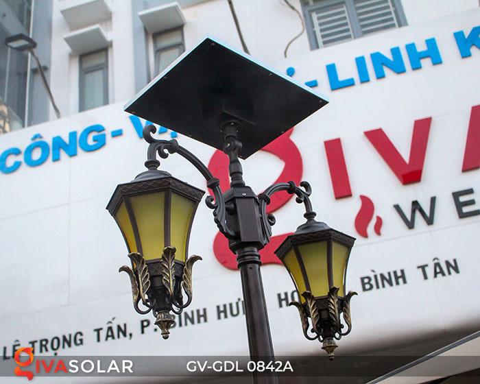 Đèn cột sân vườn dùng điện mặt trời GV-GDL0842A 6