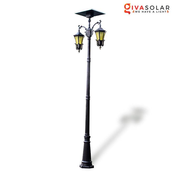 Đèn cột sân vườn dùng điện mặt trời GV-GDL0842A
