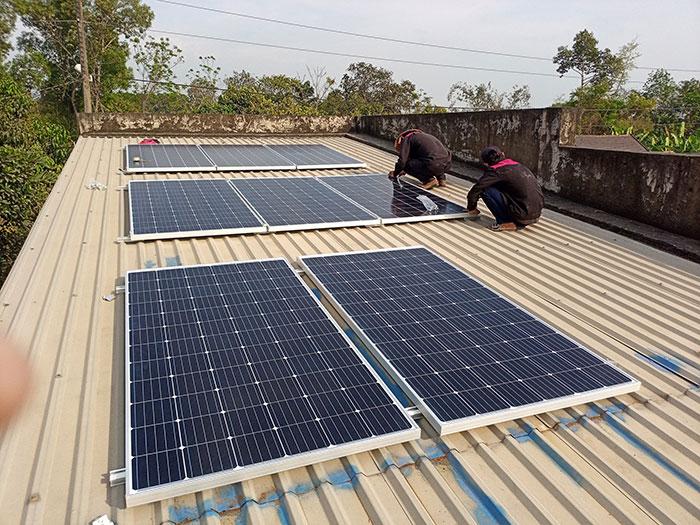 lắp hệ thống điện mặt trời hòa lưới 3KW cho anh Chất ở Củ Chi 1