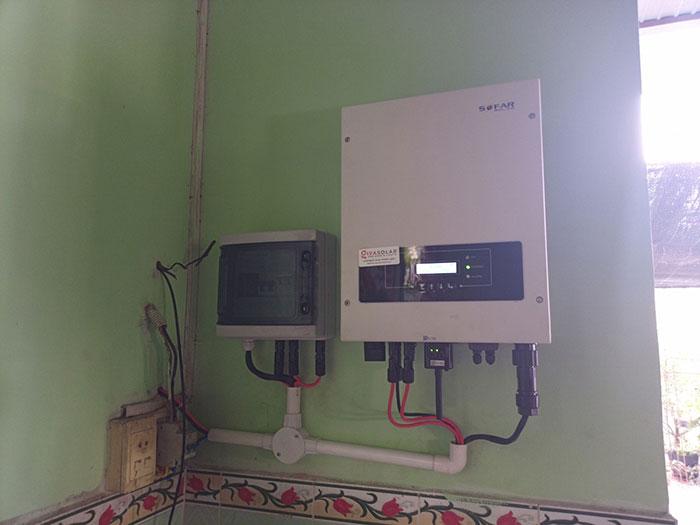 lắp hệ thống điện mặt trời hòa lưới 3KW cho anh Chất ở Củ Chi 6