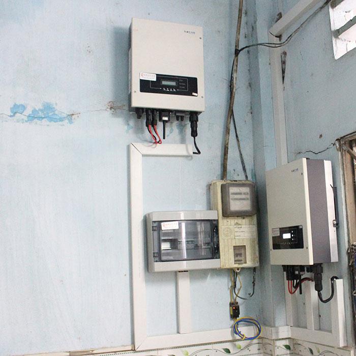 lắp đặt hệ thống điện mặt trời 10KW cho chú Ích ở Bình Chánh 12