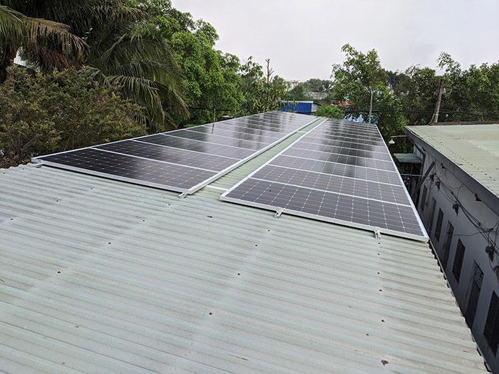 lắp đặt hệ thống điện mặt trời 10KW cho chú Ích ở Bình Chánh 3