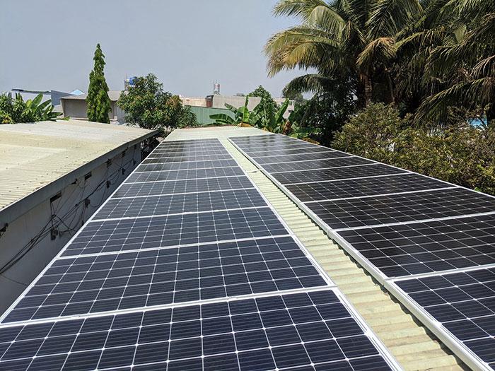 lắp đặt hệ thống điện mặt trời 10KW cho chú Ích ở Bình Chánh 6
