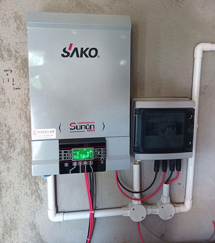 Lắp đặt hệ thống điện mặt trời độc lập 3KW cho anh Vững ở Đồng Nai 12