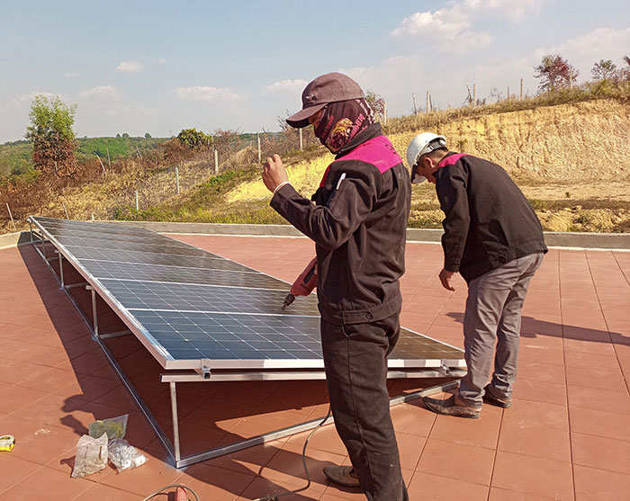 Lắp đặt hệ thống điện mặt trời độc lập 3KW cho anh Vững ở Đồng Nai 4