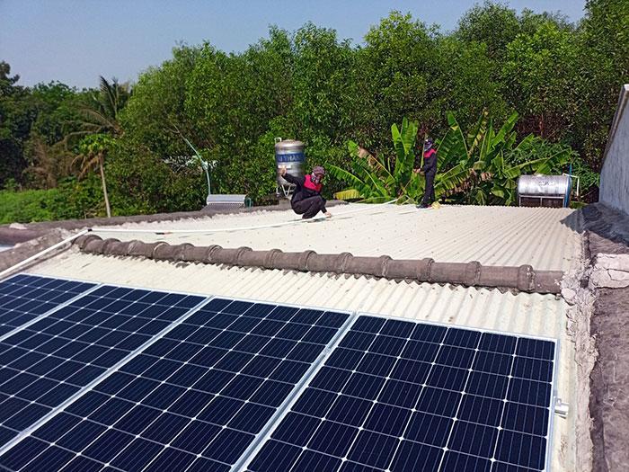 Hoàn thành xong hệ thống điện mặt trời 3 KW cho cô Khâm ở Tây Ninh 1
