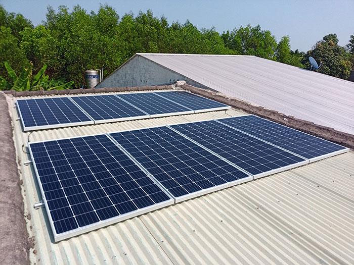 Hoàn thành xong hệ thống điện mặt trời 3 KW cho cô Khâm ở Tây Ninh 2