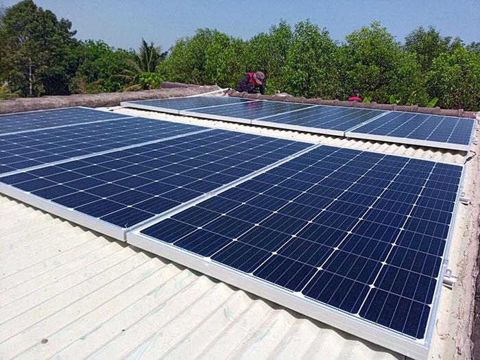 Hoàn thành xong hệ thống điện mặt trời 3 KW cho cô Khâm ở Tây Ninh 3