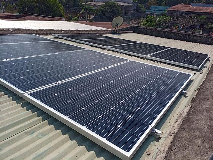 Hoàn thành xong hệ thống điện mặt trời 3 KW cho cô Khâm ở Tây Ninh 4