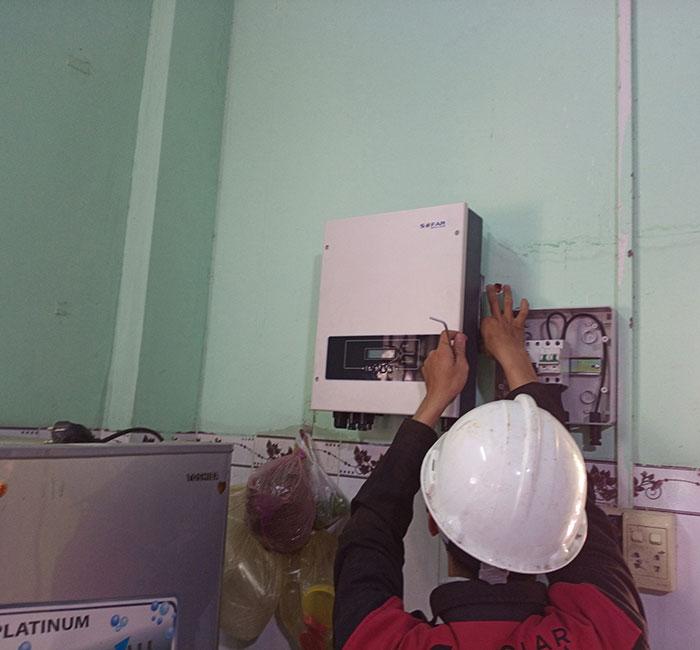 Hoàn thành xong hệ thống điện mặt trời 3 KW cho cô Khâm ở Tây Ninh 6
