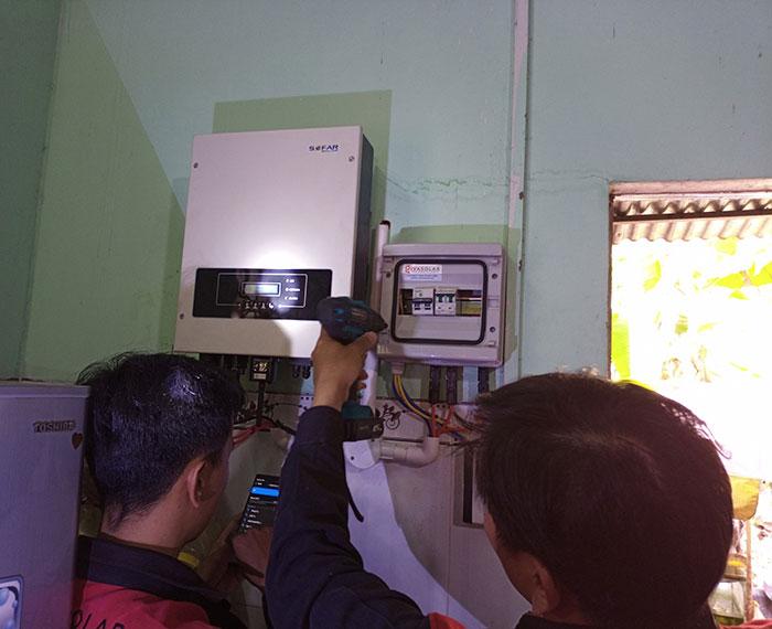 Hoàn thành xong hệ thống điện mặt trời 3 KW cho cô Khâm ở Tây Ninh 8