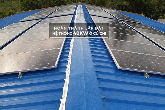 Lắp hệ thống điện mặt trời hòa lưới 40KW cho Chú Thái ở Củ Chi