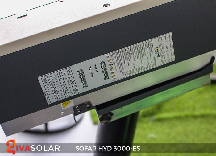 Biến tần hòa lưới có lưu trữ Sofar HYD 3000-ES 8