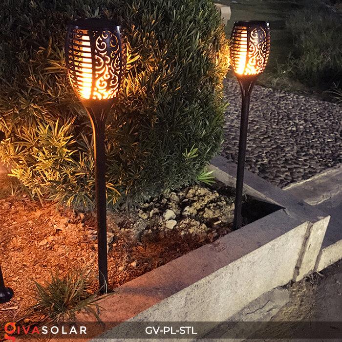 Đèn ngọn lửa trang trí năng lượng mặt trời GV-PL-STL 12