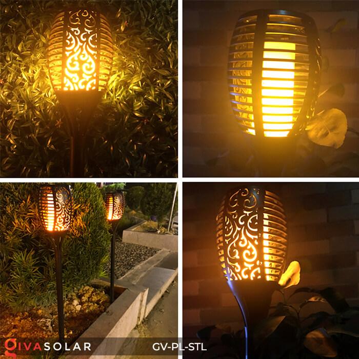 Đèn ngọn lửa trang trí năng lượng mặt trời GV-PL-STL 13