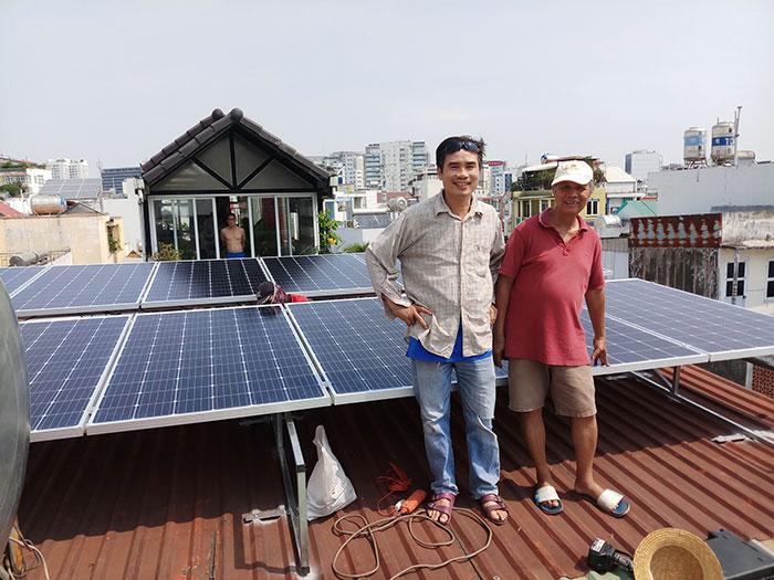 dự án điện mặt trời hòa lưới 4KW cho chú Quang Quận 3 5