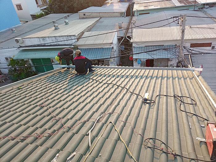Dự án điện mặt trời hòa lưới 5KW cho anh Liệt ở Bình Tân 1