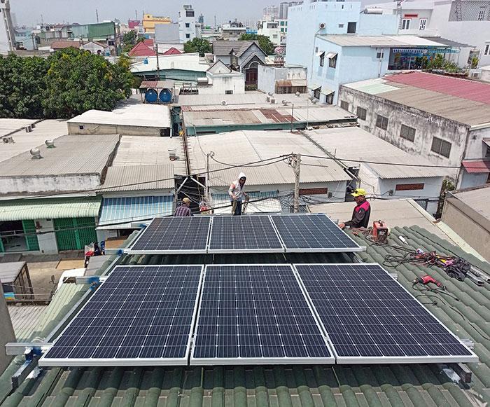 Dự án điện mặt trời hòa lưới 5KW cho anh Liệt ở Bình Tân 5