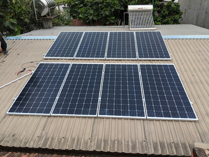 Dự án điện năng lưới mặt trời hòa lưới 3KWp cho anh Khánh ở Hóc Môn 1
