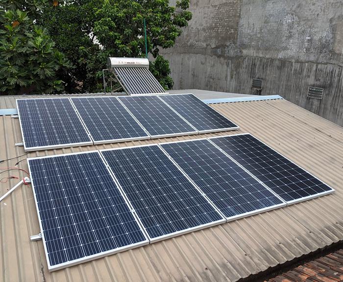 Dự án điện năng lưới mặt trời hòa lưới 3KWp cho anh Khánh ở Hóc Môn 3