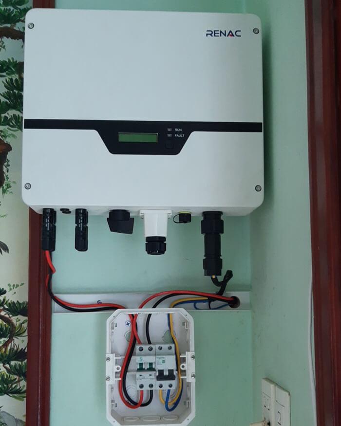 lắp đặt hệ thống 3KW hòa lưới cho anh Để ở Biên Hòa 8