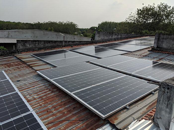 hệ thống điện mặt trời hòa lưới 10KW cho anh Mạnh ở Củ Chi 1