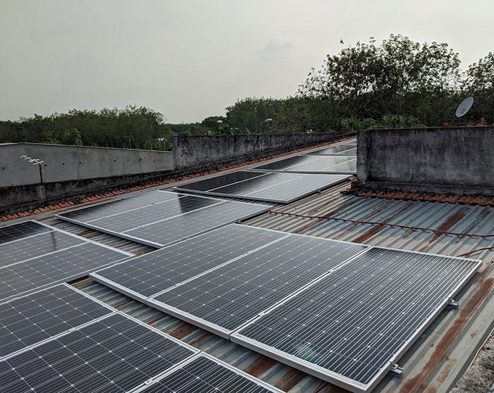hệ thống điện mặt trời hòa lưới 10KW cho anh Mạnh ở Củ Chi 2