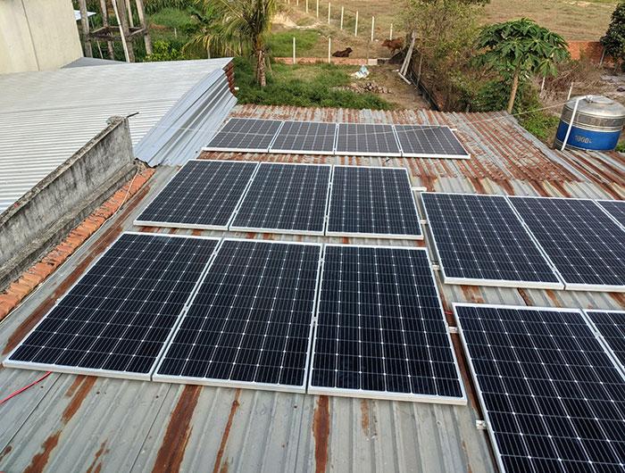 hệ thống điện mặt trời hòa lưới 10KW cho anh Mạnh ở Củ Chi 4